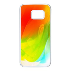 Red Yellow Green Blue Rainbow Color Mix Samsung Galaxy S7 White Seamless Case by Mariart