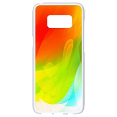Red Yellow Green Blue Rainbow Color Mix Samsung Galaxy S8 White Seamless Case