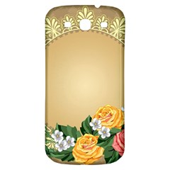 Rose Sunflower Star Floral Flower Frame Green Leaf Samsung Galaxy S3 S Iii Classic Hardshell Back Case by Mariart