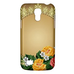 Rose Sunflower Star Floral Flower Frame Green Leaf Galaxy S4 Mini by Mariart