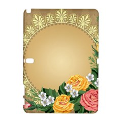 Rose Sunflower Star Floral Flower Frame Green Leaf Galaxy Note 1 by Mariart