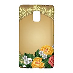 Rose Sunflower Star Floral Flower Frame Green Leaf Galaxy Note Edge by Mariart