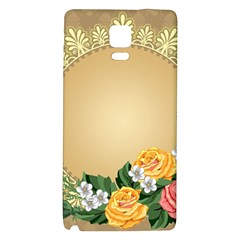 Rose Sunflower Star Floral Flower Frame Green Leaf Galaxy Note 4 Back Case by Mariart