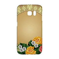 Rose Sunflower Star Floral Flower Frame Green Leaf Galaxy S6 Edge by Mariart