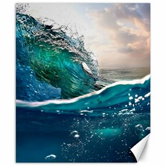 Sea Wave Waves Beach Water Blue Sky Canvas 8  X 10  by Mariart