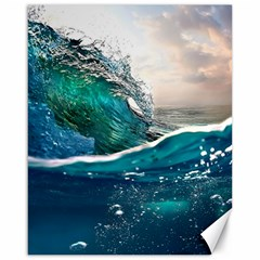 Sea Wave Waves Beach Water Blue Sky Canvas 16  X 20   by Mariart