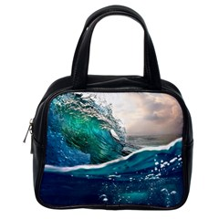 Sea Wave Waves Beach Water Blue Sky Classic Handbags (one Side) by Mariart