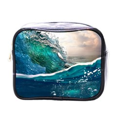 Sea Wave Waves Beach Water Blue Sky Mini Toiletries Bags by Mariart