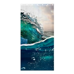Sea Wave Waves Beach Water Blue Sky Shower Curtain 36  X 72  (stall)  by Mariart