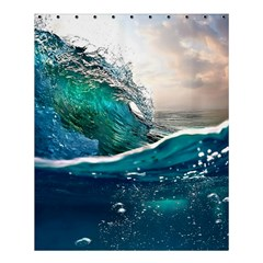 Sea Wave Waves Beach Water Blue Sky Shower Curtain 60  X 72  (medium)  by Mariart