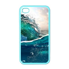 Sea Wave Waves Beach Water Blue Sky Apple Iphone 4 Case (color) by Mariart