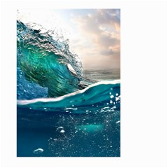 Sea Wave Waves Beach Water Blue Sky Large Garden Flag (two Sides) by Mariart