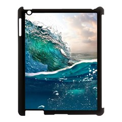 Sea Wave Waves Beach Water Blue Sky Apple Ipad 3/4 Case (black) by Mariart