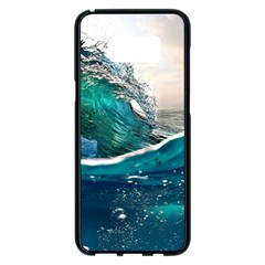 Sea Wave Waves Beach Water Blue Sky Samsung Galaxy S8 Plus Black Seamless Case