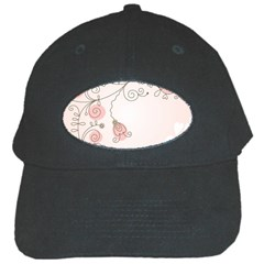 Simple Flower Polka Dots Pink Black Cap by Mariart