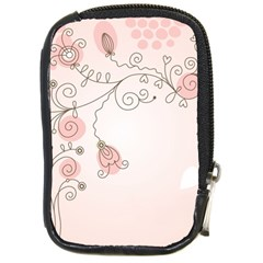 Simple Flower Polka Dots Pink Compact Camera Cases by Mariart