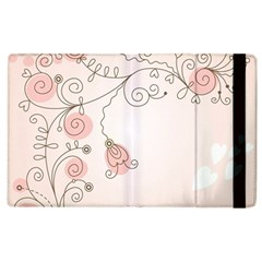Simple Flower Polka Dots Pink Apple Ipad 2 Flip Case by Mariart