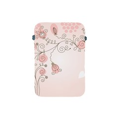 Simple Flower Polka Dots Pink Apple Ipad Mini Protective Soft Cases by Mariart