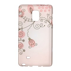 Simple Flower Polka Dots Pink Galaxy Note Edge by Mariart