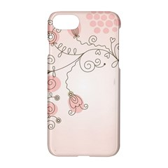 Simple Flower Polka Dots Pink Apple Iphone 7 Hardshell Case by Mariart