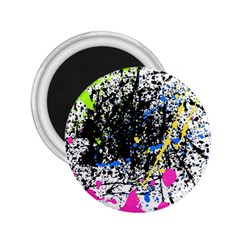 Spot Paint Pink Black Green Yellow Blue Sexy 2 25  Magnets by Mariart