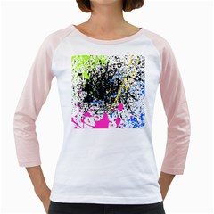 Spot Paint Pink Black Green Yellow Blue Sexy Girly Raglans