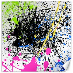 Spot Paint Pink Black Green Yellow Blue Sexy Canvas 12  X 12