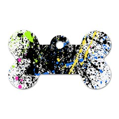 Spot Paint Pink Black Green Yellow Blue Sexy Dog Tag Bone (one Side) by Mariart