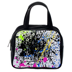 Spot Paint Pink Black Green Yellow Blue Sexy Classic Handbags (one Side) by Mariart