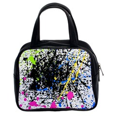 Spot Paint Pink Black Green Yellow Blue Sexy Classic Handbags (2 Sides)