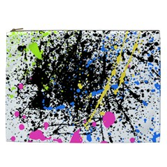 Spot Paint Pink Black Green Yellow Blue Sexy Cosmetic Bag (xxl)  by Mariart