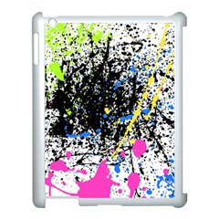 Spot Paint Pink Black Green Yellow Blue Sexy Apple Ipad 3/4 Case (white)