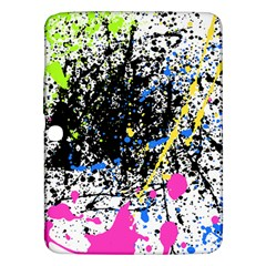 Spot Paint Pink Black Green Yellow Blue Sexy Samsung Galaxy Tab 3 (10 1 ) P5200 Hardshell Case  by Mariart