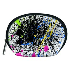 Spot Paint Pink Black Green Yellow Blue Sexy Accessory Pouches (medium)