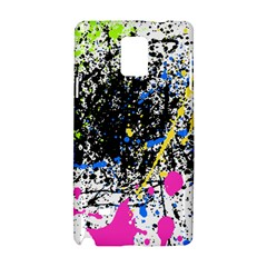 Spot Paint Pink Black Green Yellow Blue Sexy Samsung Galaxy Note 4 Hardshell Case by Mariart