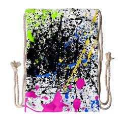 Spot Paint Pink Black Green Yellow Blue Sexy Drawstring Bag (large) by Mariart