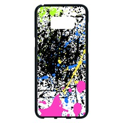 Spot Paint Pink Black Green Yellow Blue Sexy Samsung Galaxy S8 Plus Black Seamless Case