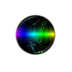 Space Galaxy Green Blue Black Spot Light Neon Rainbow Hat Clip Ball Marker by Mariart