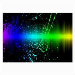 Space Galaxy Green Blue Black Spot Light Neon Rainbow Large Glasses Cloth