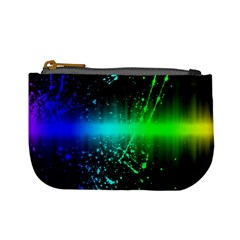 Space Galaxy Green Blue Black Spot Light Neon Rainbow Mini Coin Purses by Mariart