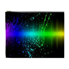 Space Galaxy Green Blue Black Spot Light Neon Rainbow Cosmetic Bag (xl) by Mariart