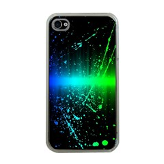 Space Galaxy Green Blue Black Spot Light Neon Rainbow Apple Iphone 4 Case (clear) by Mariart