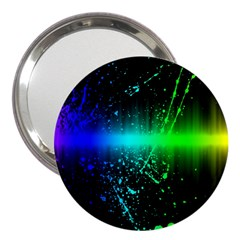 Space Galaxy Green Blue Black Spot Light Neon Rainbow 3  Handbag Mirrors
