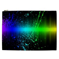 Space Galaxy Green Blue Black Spot Light Neon Rainbow Cosmetic Bag (xxl)  by Mariart