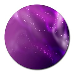 Space Star Planet Galaxy Purple Round Mousepads by Mariart