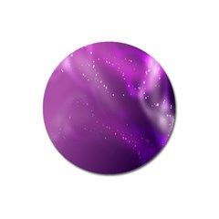 Space Star Planet Galaxy Purple Magnet 3  (round) by Mariart