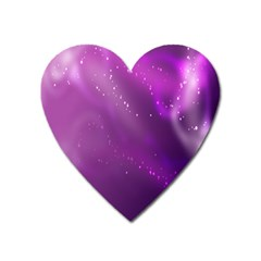 Space Star Planet Galaxy Purple Heart Magnet by Mariart