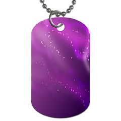Space Star Planet Galaxy Purple Dog Tag (two Sides) by Mariart
