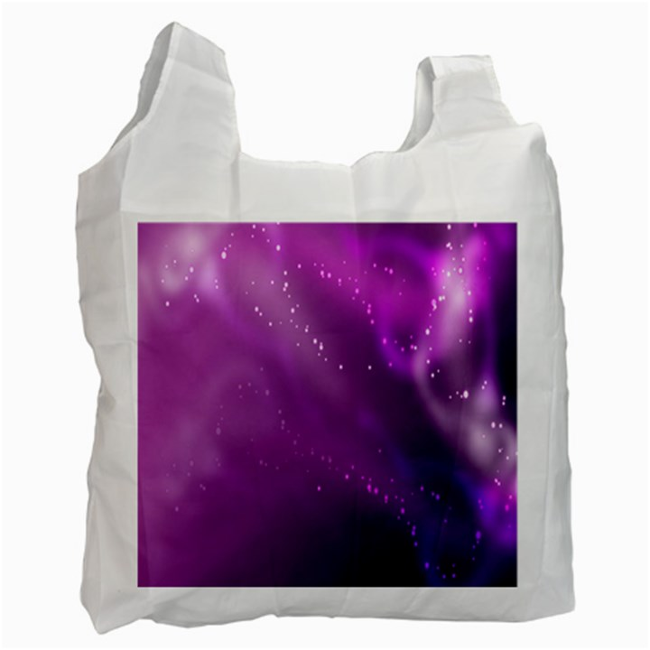 Space Star Planet Galaxy Purple Recycle Bag (One Side)
