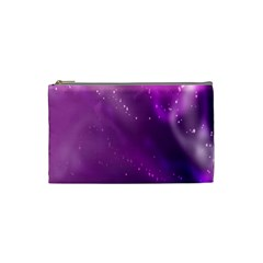 Space Star Planet Galaxy Purple Cosmetic Bag (small)  by Mariart